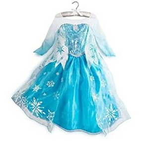 Disfraz Para Niña Reina Elsa Nieve Del Copo De Nieve Vestid