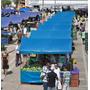 Lona Barraca De Feira Azul Ck 300 Micras Impermeável 5x5 M