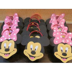 Dulces Golosineros Bolsitas Minnie, Mickey En Goma Eva