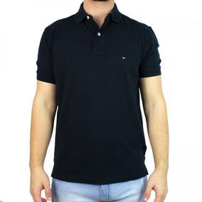 Camisa Polo Masculina Tommy Hilfiger Preta Th085787913
