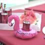 Porta Copos Flamingo Bóia Inflável Enfeite - Pronta Entrega!