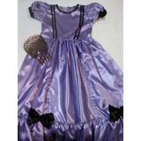 Disfraz De Dama Antigua C/ Accesorios Negrita Etc Escolares