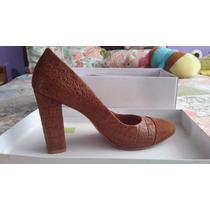 Zapato De Vestir Michelle Belau Talla 38 Color Avellana