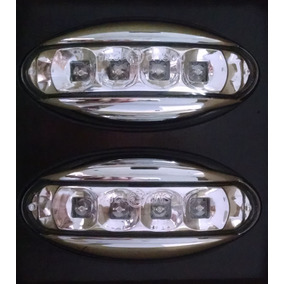 Juego Giros Lateral Peugeot 206 207 Partner Cromado Con Leds