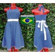 Vestido Curto Roupas Femininas Retrô Vintage 50