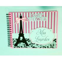 Libro De Firmas Baby Shower París Rosa