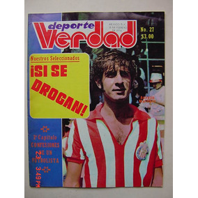 Chivas De Guadalajara Revista De Futbol Con Poster De 1974