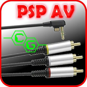 Cable De Video Av Psp Slim 2000 3000 Tv Normal!!! En Caja