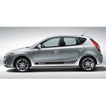 Adesivo Kit Faixa Lateral Hyundai I30 Acessórios Peças La