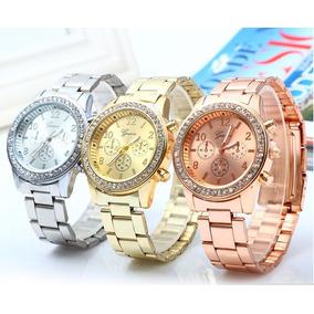Reloj De Mujer Geneva Muy Elegante Con Piedras