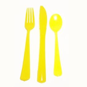 Cubiertos Duros, Tenedor Amarillo X10