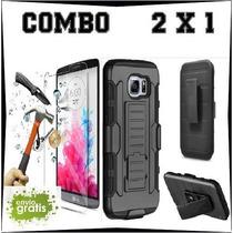 Kit Protector Uso Rudo Y Cristal Templado Lg X Power K220