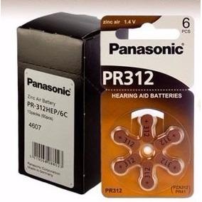 60 Pilha Bateria Aparelho Auditivo - Panasonic Pr 312