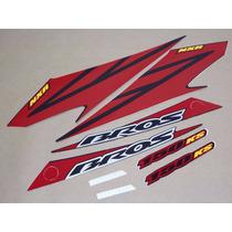 Kit Adesivos Honda Nxr 150 Bros Ks 2008 Preta