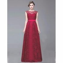 Lindo Vestido Em Renda Com Saia Rodada Noite Casamento