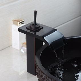 llave bao grifo mezcladora monomando vidrio aceitado negro