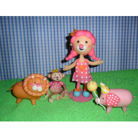 Circo Para Nena Payasa Adorno De Torta Porcelana Fria