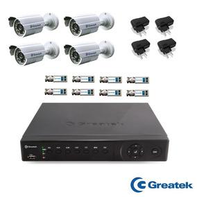 Kit Dvr 8 Canais + 4 Camera Ahd-m 720p Greatek