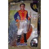 Disfraz De Simón Bolivar. De La Línea Patriota . Talla 8.