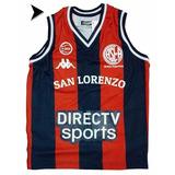 Camiseta San Lorenzo Basquet Kappa Oficial Niño Caba