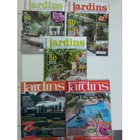 Kit 5 Revistas Jardins/jardinagem