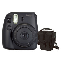 Câmera Instantânea Fujifilm Instax Mini 8 Preta + Estojo