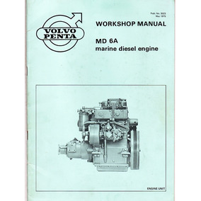Manual De Serviço Motor Maritimo Volvo Penta Md6a Md7a 1975