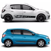 Adesivo Faixas Laterais Automotivas Renault Sandeiro E Logan