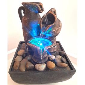 Fuente De Agua Jarrones Con Piedras Zen Con Luz Oferta!