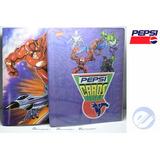 2 Albums De Pepsi Cards Dc Y Marvel Reimpresion Del 2000