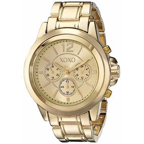 Reloj Dama Xoxo Mod Xo5937 Original Dorado
