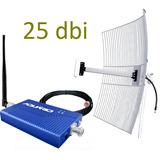 Mini Repetidor Celular Aquario 1800mhz Rp1860 Antena 25dbi