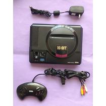 Mega Drive-1&2-japônes- Sega+04fitasbrinde Completo Chaveado