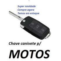 Moto Fazer Yamaha Chave Canivete Com Logomarca+lâmina