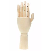 Mão De Madeira Articulada - Manequim De Mão 29cm - Modelo