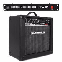 Caixa Som Amplificada Sound Maker Violao + Filtro Linha 12