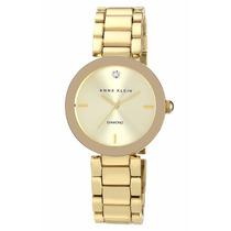 Reloj Anne Klein Ak1362chgb Dama Dorado Diamond Envío Gratis