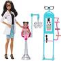 Barbie Carreras Ojos Doctor Doll Y Playset