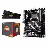 Combo Amd Ryzen 7 1700 + X370 Krait Gaming + 8gb Ddr4 2400mh