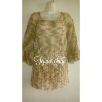 Blusa Tejida A Crochet Talla Grande