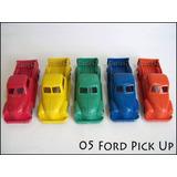 Dante42 Juguete Antiguo Plastico Pack 05 Autos Ford Pick Up