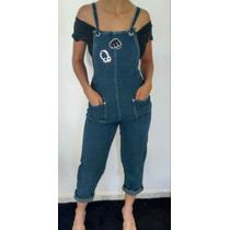 Macacão, Jardineira Feminino Jeans Comprido, Customizado.