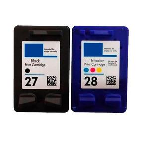 Cartuchos 27 Preto + 28 Colorido Para Deskjet 3845