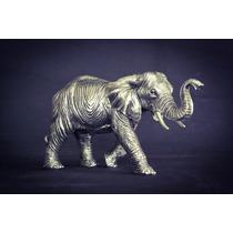 Escultura De Elefantes Plata 999 Electroformado Figura