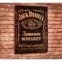 Quadros Estilo Rustico Retro Vintage Cerveja Jack Daniels