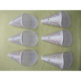 Cupulas De Luminaria Antiga Em Plastico 6 Peças