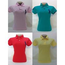 Camiseta Polo Feminina Marcas Famosas Kit Lote 10 Peças
