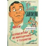 Afiche Vida Intima D Marco Antonio Y Cleopatra Luis Sandrini