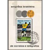 1969 Bloco B-28 Milésimo Gol De Pelé Carimbo 1º D