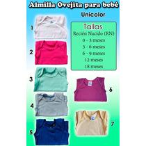 Camiseta Franelilla Almilla Unicolor Ovejita Para Bebé